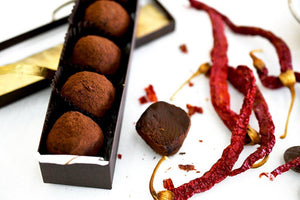 Dark Chocolate Chili Truffles