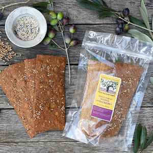 Whole Wheat Seeded Crackers