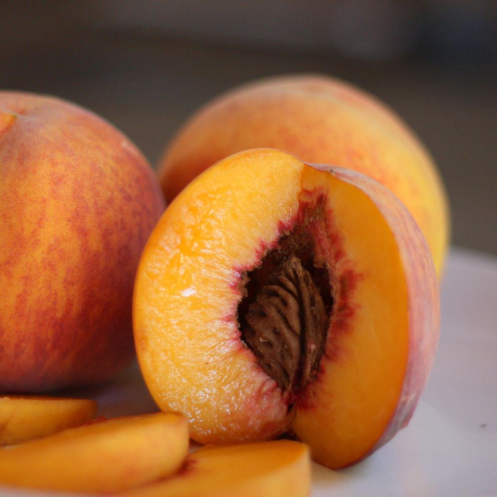 Organic Autumn Flame Peaches | Organic Peaches
