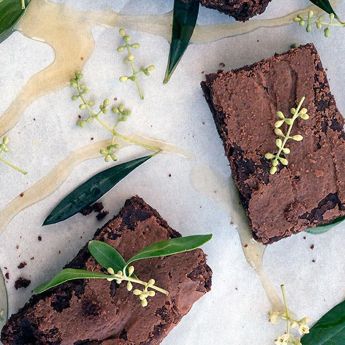 Triple Chocolate Olive Oil Brownies