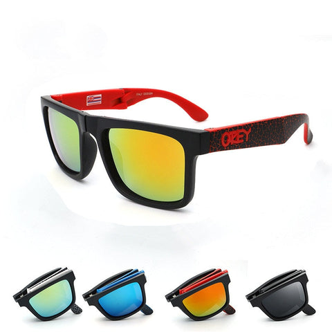 Folding Sunglasses Black & Red