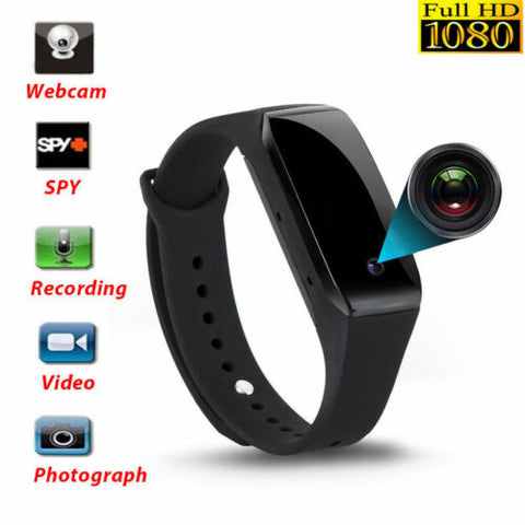Smart Watch Wristband With 1080P Camera DVR Video Recorder