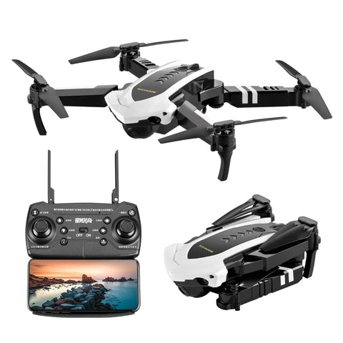 Foldable Quadcopter Drone with Live Video Camera - 110° Wide-Angle 1080P HD