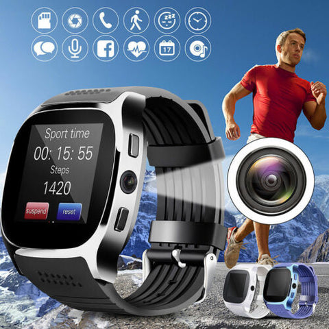 Smart Watch with Bluetooth, SIM TF card & Camera Android & iPhone Smartphones