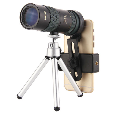 Luxun 8-24x30 Zoom Telescope with Tripod & Phone Clip