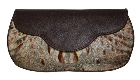 Embossed leather clutch, flat clutch, embossed croc leather, croc clutch, leather handbag, wholesale croc leather