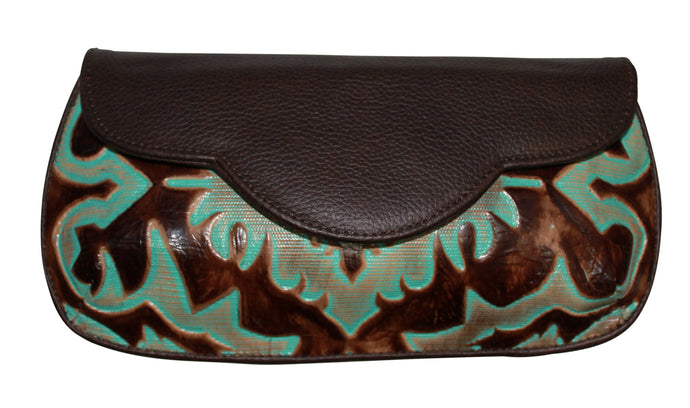 Larendo Leather Clutch