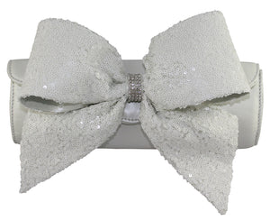 White Bow Evening handbag