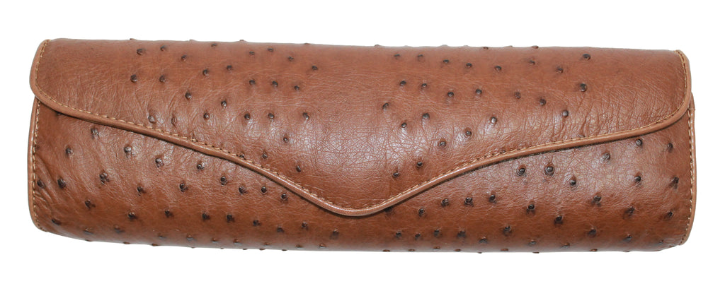 Genuine Ostrich clutch, genuine ostrich handbags, bag, purse, clutch, woman's accessories