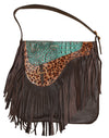 ROUND cross body fringe bag, crossbody fringe bag, embossed leather handbags, rodeo bags, gray handbag, gypsy purse.