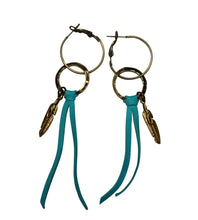 Feather Hoop Tassel Native American Earrings
