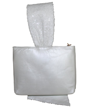 White evening clutch, white Bridal bag, Bridesmaid bags, wrist let evening bag, cross body evening bag, handbag, purse, bridal collection.