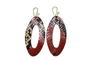 Cut Out Snakeskin Earrings