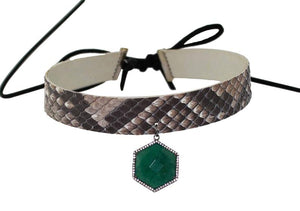 Python Choker with Natural Stone
