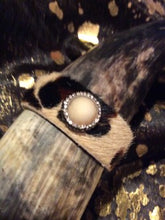 Cowhide Brown Cuff with crystals