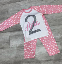 Name and Number birthday pyjamas