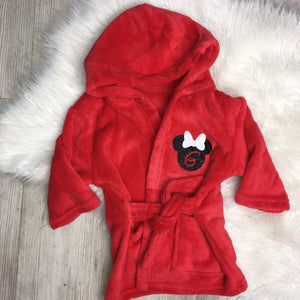 Personalised Minnie Mouse Dressing Gowns