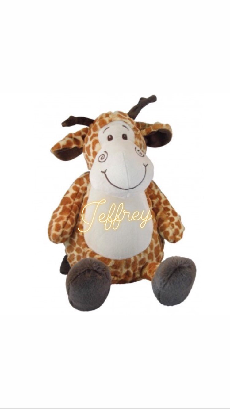 Personalised Soft Toys - Giraffe
