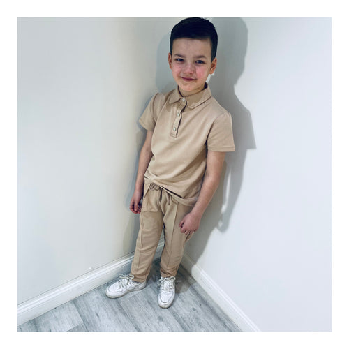 Camel short sleeve deluxe tracksuit