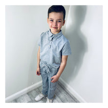Grey short sleeve deluxe tracksuit