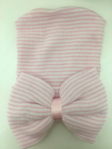 Pink Newborn Oversized Bow Hat