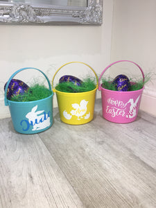 Personalised 'easter chick' Easter bucket