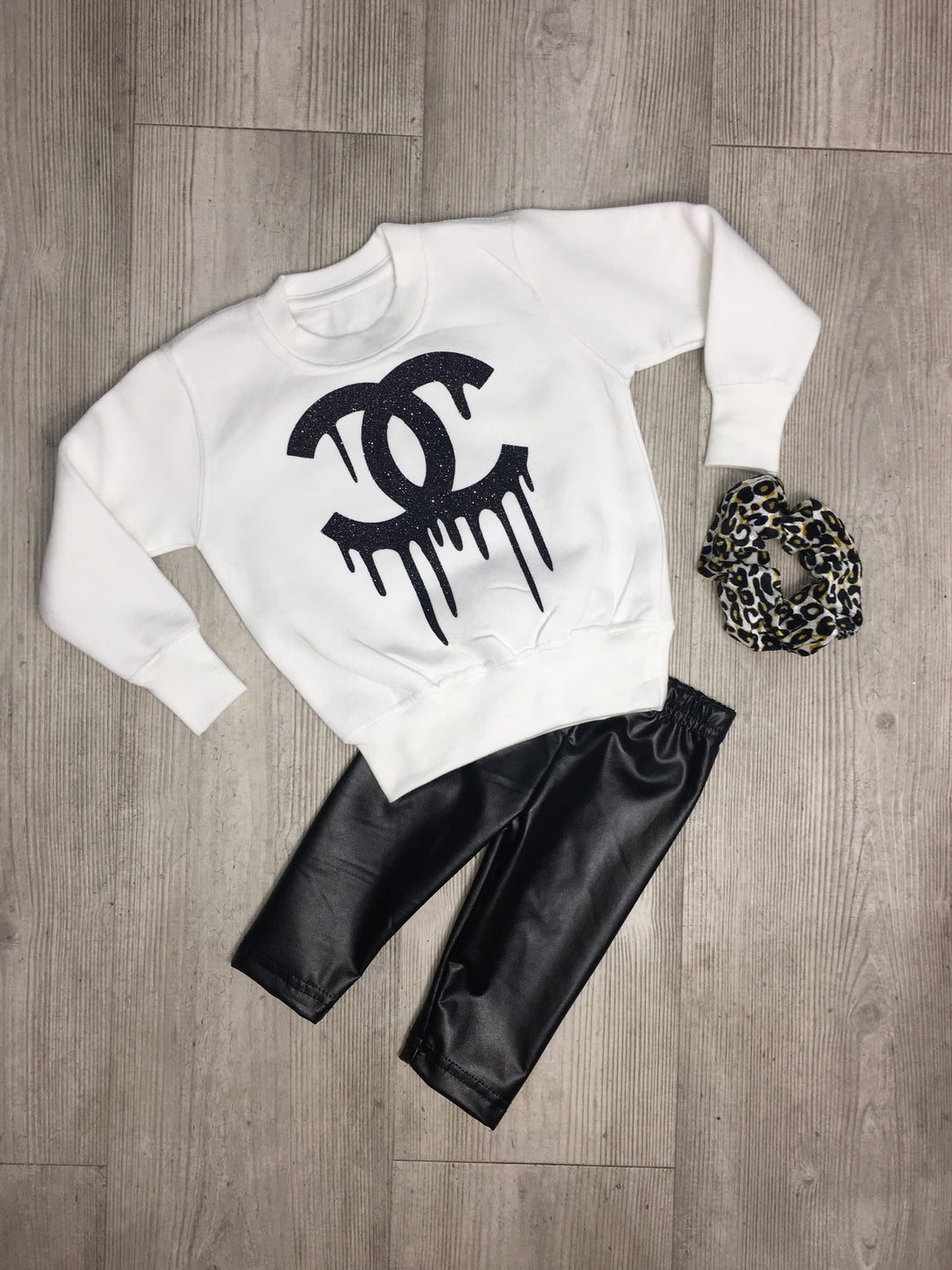 Glitter drip Chanel inspired sweater