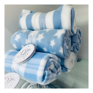Small blue fleece blanket