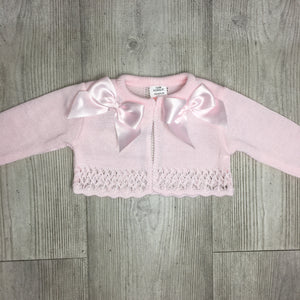 Pink double bow cardigan