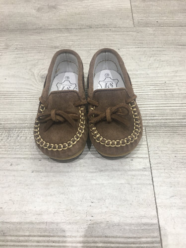 Boys brown moccasins