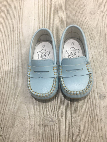 Boys baby blue moccasins