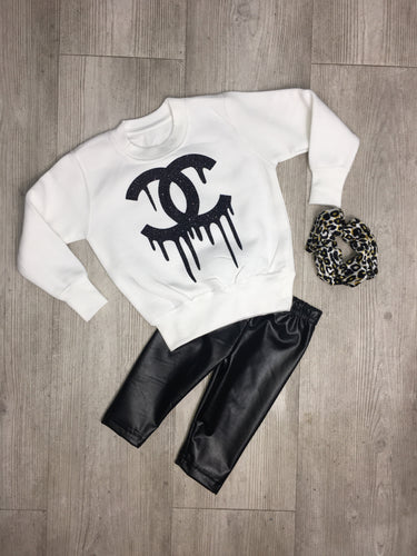 Adults CC drip inspired sweater