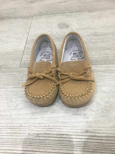 Boys tan moccasins
