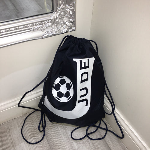 Drawstring personalised gym bag