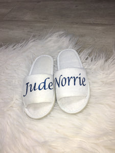 Kids personalised slippers