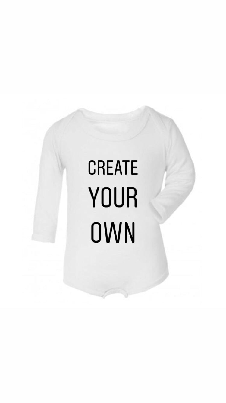 Create your own valentines long sleeve bodysuit