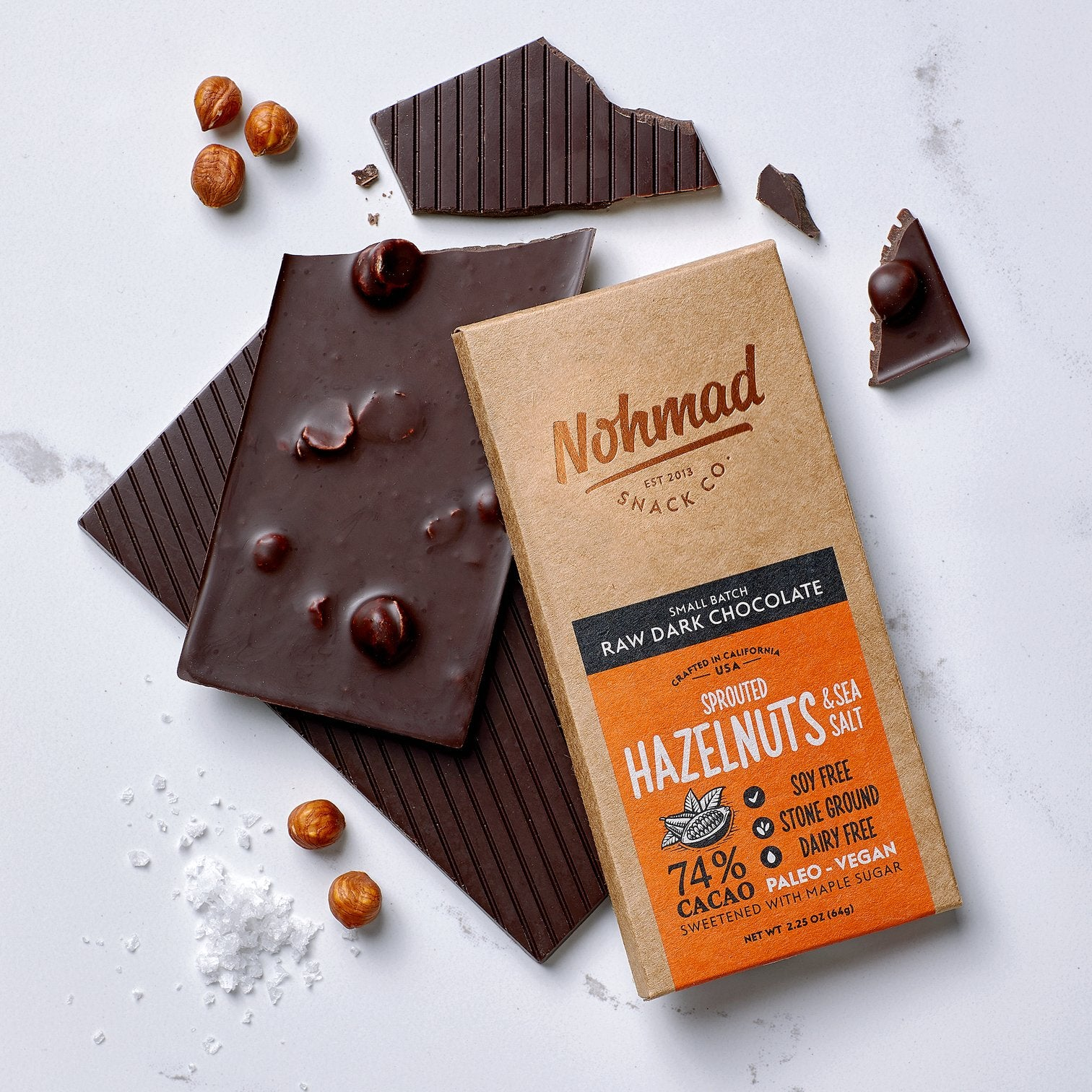 Nohmad - Raw Dark Chocolate Hazelnut