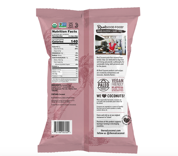 Tortilla Chips - Himalayan Pink Salt - The Real Coconut