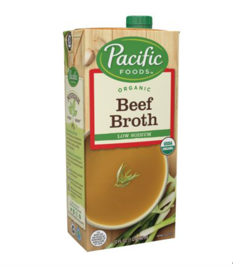 Organic Low Sodium Beef Broth - Pacific Foods