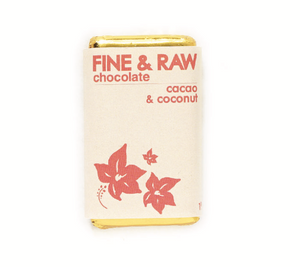 Fine & Raw Chocolate Square - Cacao & Coconut Chunky