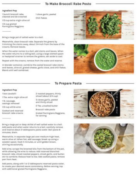 Cavatelli, Chicken Sausage, Broccoli Rabe Meal Kit