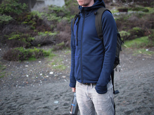 Men's Polartec Fleece Hoodie, Ultramarine
