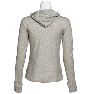 Women's Hoodie L/S Shirt, Natural