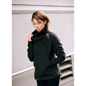 Women's Paige Softshell Jacket, Heather Black
