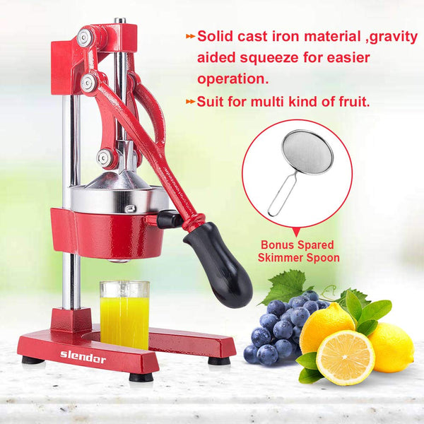 Commercial Citrus Juicer Manual Fruit Juicer and Orange Squeezer Metal