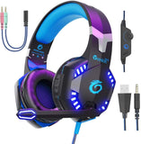 G2000 Pro Gaming Headset 3.5mm Wired Headphones with 3D