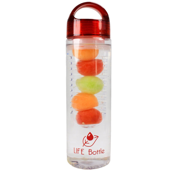 Bottle Fruit Infuser Water Bottle Red