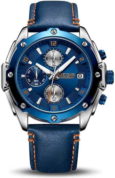 Men Business Analogue Quartz Watch with Fashion Blue