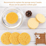 Facial Sponges, Compressed Facial Sponge for Facial Cleansing Facial 40 Count
