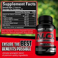 Nitric Oxide Booster - Nitric Oxide Supplement Pumps, Energy, Heart Health 60 Capsules